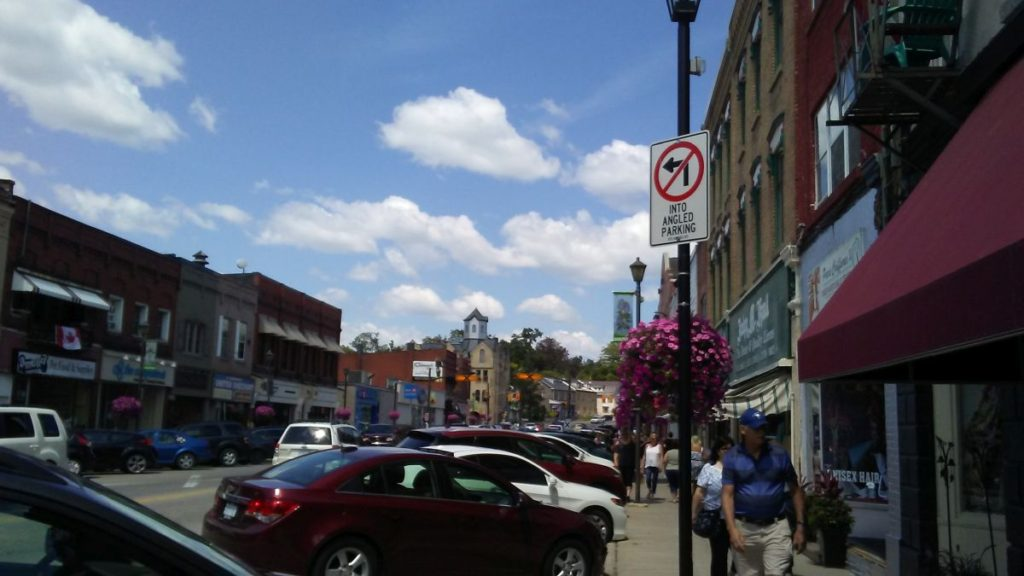 Downtown's main street view
